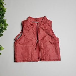 BABY GAP Rusted Zip Up Vest